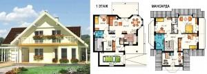 Канадский Дом 204,0 м2 за 370 y. e/м2 . ,проект «ФИЛИППИНКА» - Технология SIP