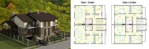 Канадский Дом 310,0 м2 за 130 474 У.Е., проект «ЖЕНЕВА ДУПЛЕКС» - Технология SIP