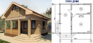 Канадский Дом 42,00 м2 за 459y. e/м2 проект «САДОВЫЙ - 42» - Технология SIP