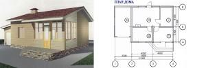 Канадский Дом 50,05 м2, за 415 y. e/м2 . проект «УЮТ» - Технология SIP
