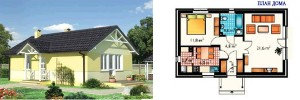 Канадский Дом 54,50 м2 зa 439 y. e/м2 проект «КОЛИБРИ» - Технология SIP