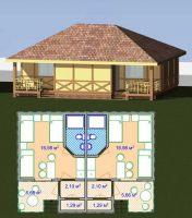 Канадский Дом 60,0 м2 за 427 y. e/м2 , проект «ДУПЛЕКС У МОРЯ» - Технология SIP