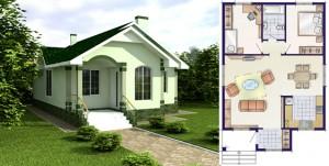 Канадский Дом 86,0 м2 за 40 340 У.Е.,проект «МРАМОРНЫЙ» - Технология SIP