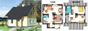 Канадский Дом 90,7 м2 за 44 651 У.Е., проект «ГОРОШЕК» - Технология SIP