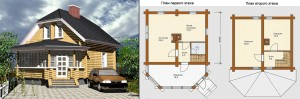 Канадский Дом 91,30 м2 за 39 749 У.Е. проект «СРУБ» - Технология SIP