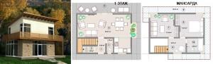 Канадский Дом 92,0 за 370 y. e/м2 , проект «ДОМ - БРИЗ» - Технология SIP