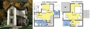 Канадский Дом Дача - 52,0 м2 за 430 y. e/м2 - Технология SIP