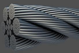 Канат стальной тройной свивки типа ЛК-Р