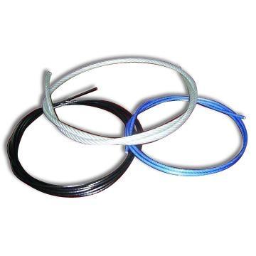Канаты (троса) стальные оцинкованные в ПВХ оболочке DIN3055.