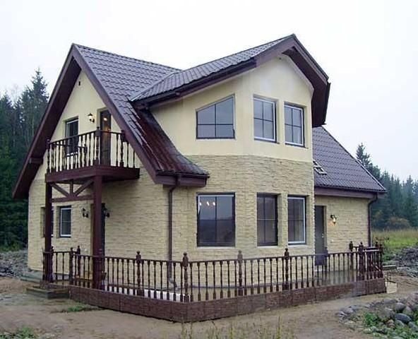 каркасно-панельный дом из сип панелей. стоимость домокомплекта 1296 грн. кв. м. по полу