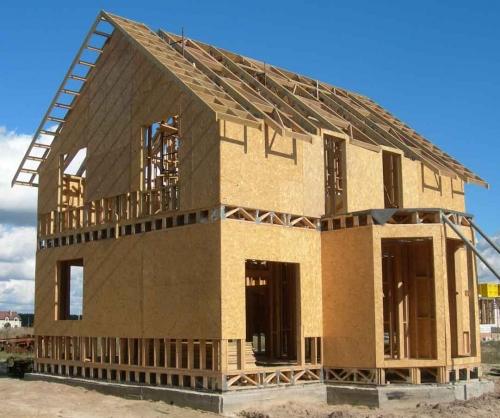 Каркасное быстро возводимое строительство коттеджей, мансарды, пристройки, складов.