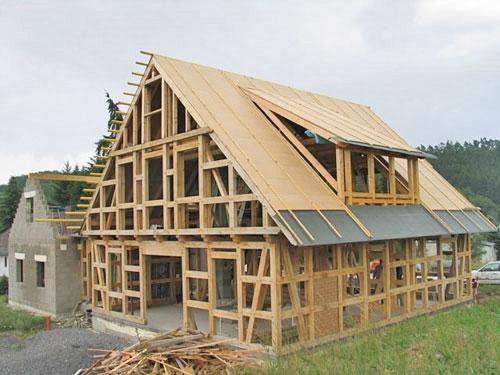 Каркасное строительство быстро возводимых, быстро монтируемых домов, коттеджей.