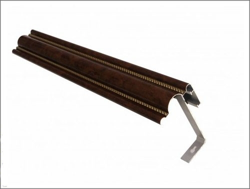 Карниз алюминиевый цельнотянутый. Клееный пленкой, крашеный, декор под дерево. Разм. : 1,5-2-2,5-3-3,5-4-6 м
