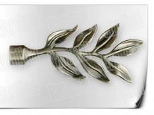 Карниз металический кованый с окончанием лаур длинной от 1м и до 20ти метра.