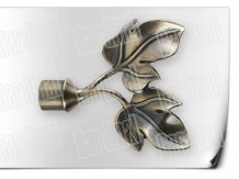Карниз металический кованый с окончанием листок длинной от 1м и до 20ти метра.