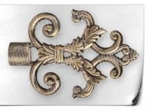 Карниз металический кованый с окончанием лувр длинной от 1м и до 20ти метра.
