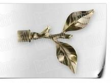 Карниз металический кованый с окончанием роза длинной от 1м и до 20ти метра.