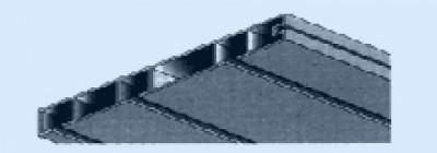 Карниз потолочный тройной, карниз потолочный белый пластиковый с тремя дорожками, цена за метр