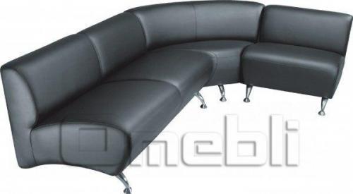 Каролина диван угловой Неаполь Черный N 20 A31114