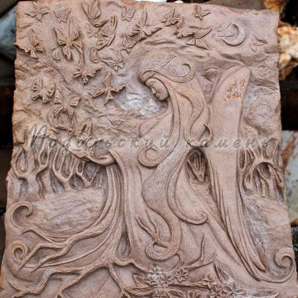 Картина на камне Фрея Размеры 50х60 см. Камень кварцито-песчаник