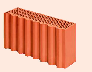 Керамические блоки porotherm 1/2 P+W, 500 x 124 x 238 мм