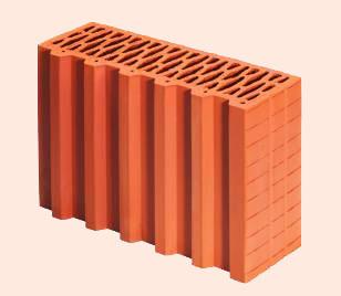 Керамические блоки porotherm 38 P+W,
