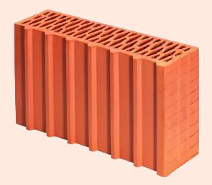 Керамические блоки porotherm 44 1/2 P+W, 440 x 124 x 238 мм
