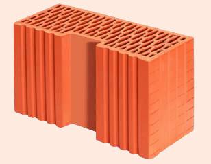 Керамические блоки porotherm 44 R, 440 x 186 x 238 мм