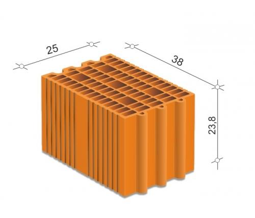 Керамический блок 25 Porotherm для несущих стен