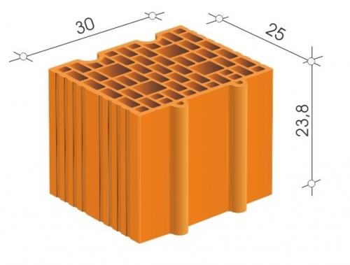 Керамический блок 30 Porotherm для несущих стен