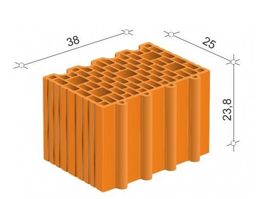 Керамический блок 38 Porotherm для несущих стен