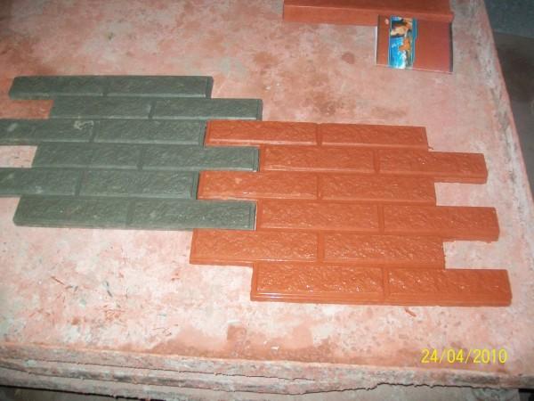 Кирпич 3,6 шт. на 1 кв. м размер 65,0*45,0 толщина 2.0 см цвета:желтый, черный, красный, коричневый, серый и мрамор