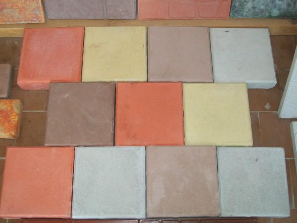 Кирпич дорожный 20 шт. на 1 кв. м размер 20,0*20,0 толщина 4,5 ; 6,0 см цвета:желтый, черный, красный, коричневый, серый