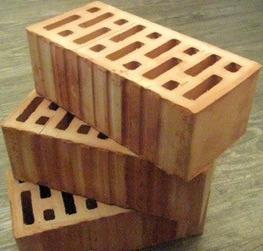 Кирпич керамический рядовой-одинарный, полуторный, двойной.