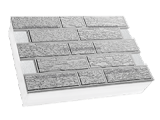 Фото  1 Термопанель ПСБ-С-35 30мм Кирпич короед 600x400, белый цемент, с доб.елем. 1923526
