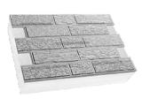 Фото  1 Термопанель ПСБ-С-25 30мм Кирпич короед 600x400, серый цемент, с доб.елем. 1923531