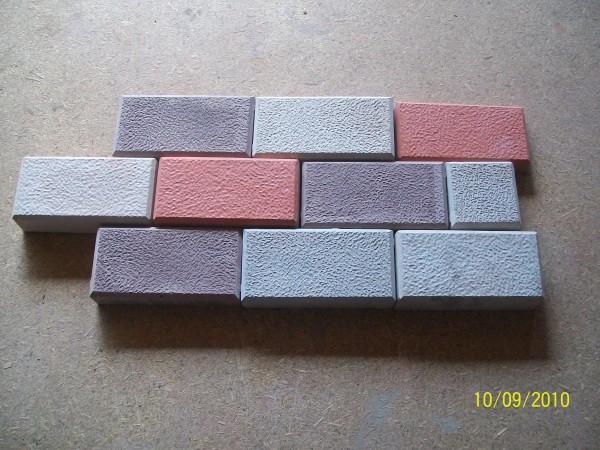 Кирпичик шагрень 50 шт. на 1 кв. м размер 20,0*10,0 толщина 4.5 см цвета:желтый, черный, красный, коричневый, серый