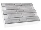 Фото  1 Термопанель ПСБ-С-35 50мм Кирпичная кладка 600x400, серый цемент, с доб.елем. 1923495