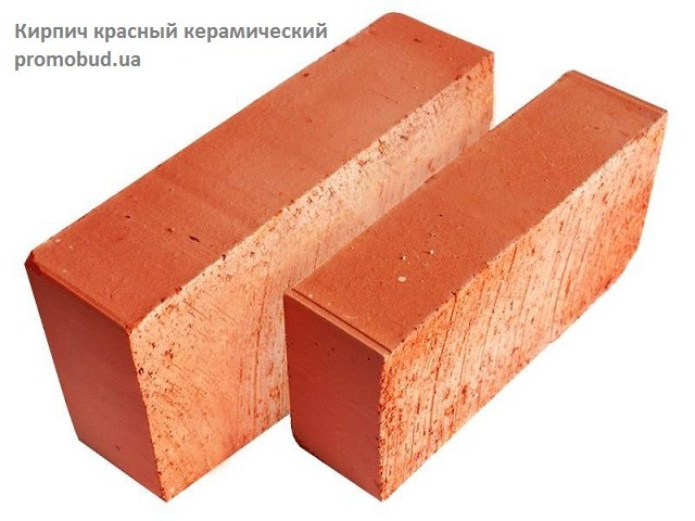 кирпич красный керамический - фото