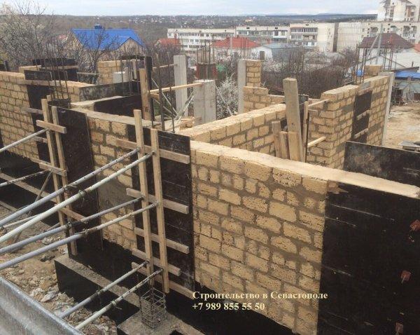 Фото 3 Строительство домов в Севастополе (ракушка, газобетон, кирпич) 334391