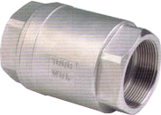 Клапан обратный муфтовый пружинный из нерж. стали, Ру16, Ду10-80, н/ж сталь AISI304