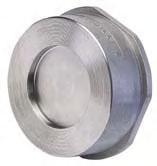 Клапан обратный подпружиненный межфланцевый нерж., Ру16, Ду15-300, н/ж сталь AISI304, 316