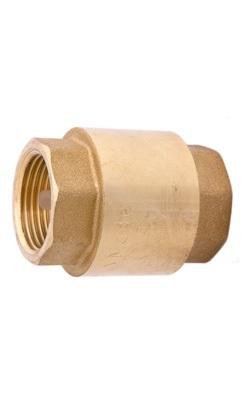 Клапан зворотній муфтовий з латунним штоком Tmax 150 C, PN 16 Ду 20
