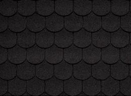 Классическая черепица IKO Superglass-Biber 02 Sparkling Black