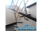Фото  1 Классические перила из н/ж стали с деревом в частный дом, коттедж или квартиру. С установкой под ключ. 2396716