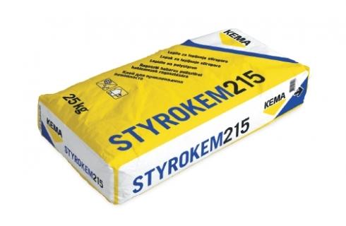 Клей для пенопласта STYROKEM 215 25 кг. Клеевая смесь на основе песка, портландцемента и специальных добавок.
