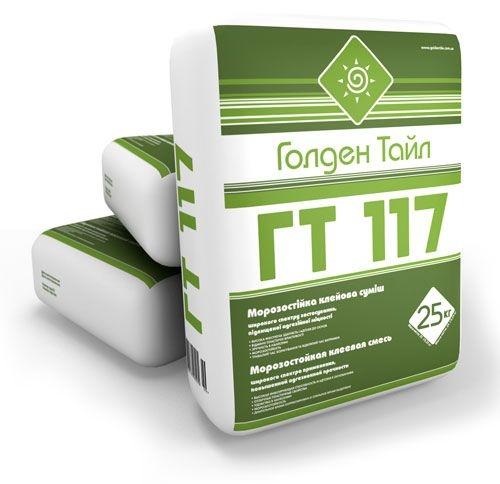 Клей для плитки ГТ-117 морозостойкий, универсальный