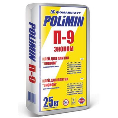 """Клей для плитки """"Керамик клей"""" П-9 Полимин (25кг)"""