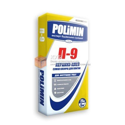 Фото  1 Клей для плитки Полимин П 9 (Polimin P 9) (25 кг) 1750120