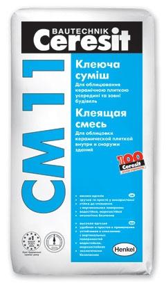 Клей для плитки СМ-11 25 кг
